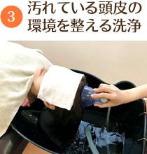 頭皮の環境を整える洗浄
